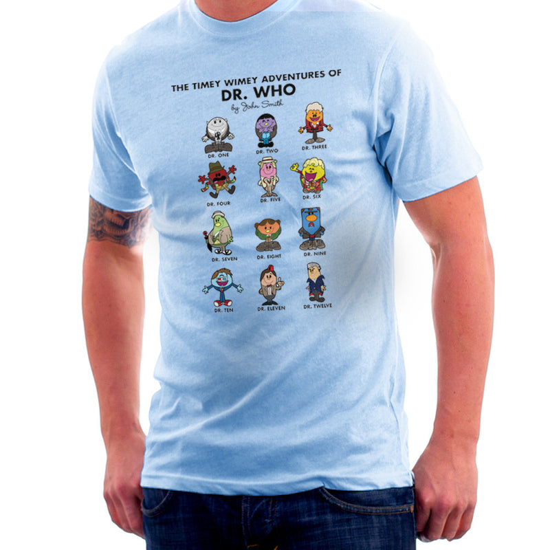 The Timey Wimey Adventures of Dr Who Mr Men Doctors Men's T-Shirt by TopNotchy - Cloud City 7
