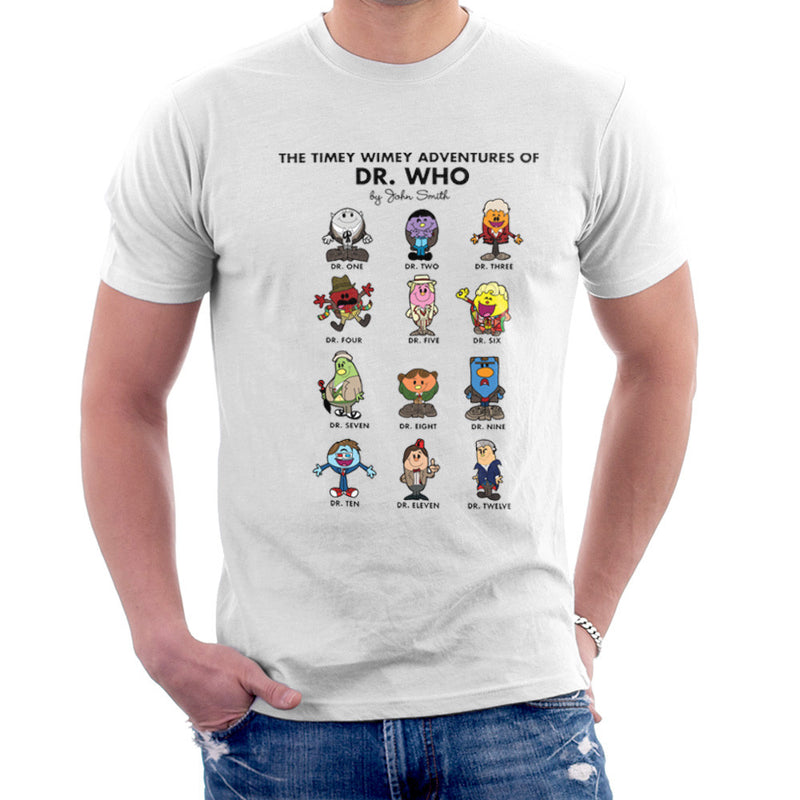 The Timey Wimey Adventures of Dr Who Mr Men Doctors Men's T-Shirt Men's T-Shirt Cloud City 7 - 6