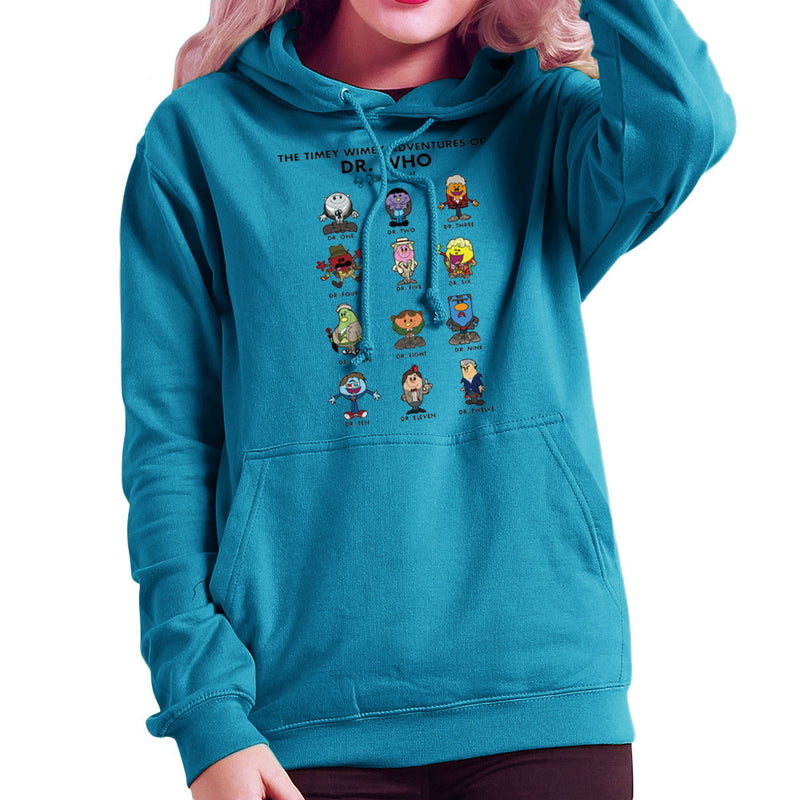The Timey Wimey Adventures of Dr Who Mr Men Doctors Women's Hooded Sweatshirt by TopNotchy - Cloud City 7