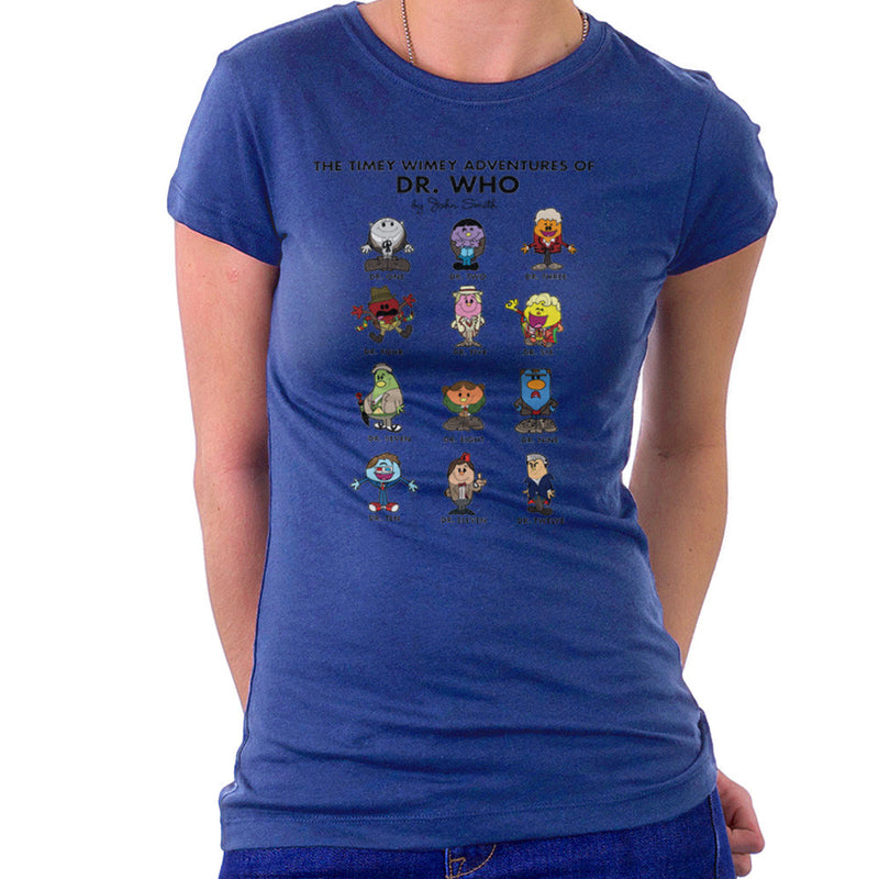 The Timey Wimey Adventures of Dr Who Mr Men Doctors Women's T-Shirt by TopNotchy - Cloud City 7