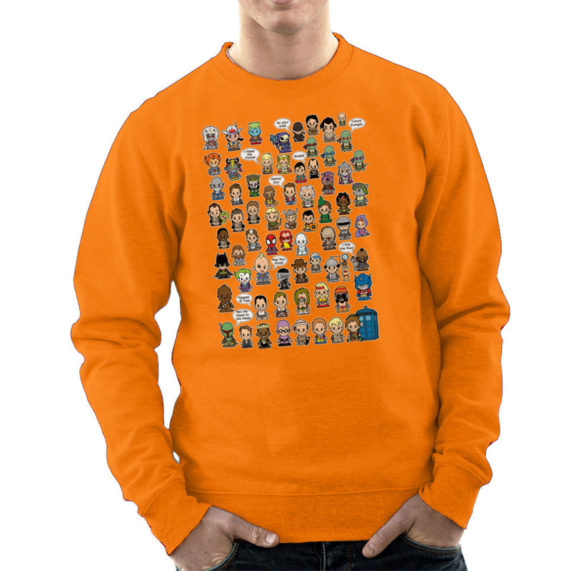 This is what I did in the Eighties Lil Characters Men's Sweatshirt by TopNotchy - Cloud City 7