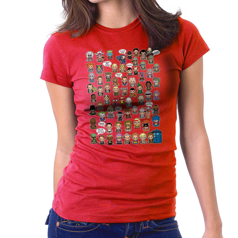 This is what I did in the Eighties Lil Characters Women's T-Shirt by TopNotchy - Cloud City 7