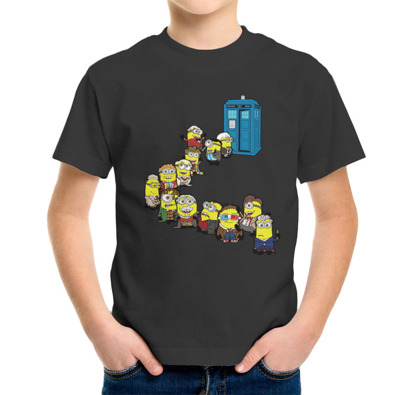 Doctor Who Minions Trouble in Time and Space Tardis Kid's T-Shirt by TopNotchy - Cloud City 7