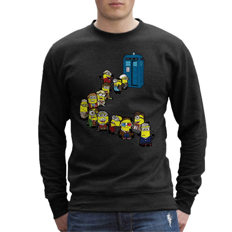 Doctor Who Minions Trouble in Time and Space Tardis Men's Sweatshirt Men's Sweatshirt Cloud City 7 - 2
