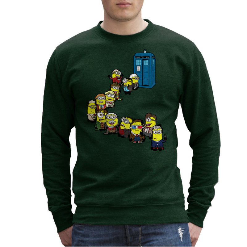Doctor Who Minions Trouble in Time and Space Tardis Men's Sweatshirt Men's Sweatshirt Cloud City 7 - 13