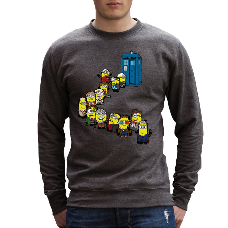 Doctor Who Minions Trouble in Time and Space Tardis Men's Sweatshirt Men's Sweatshirt Cloud City 7 - 4
