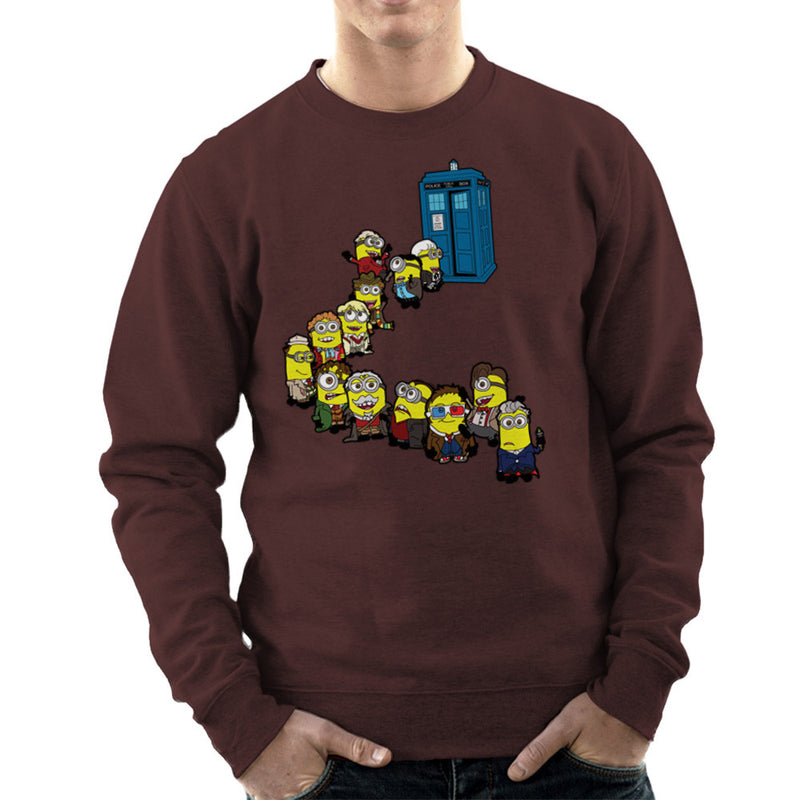 Doctor Who Minions Trouble in Time and Space Tardis Men's Sweatshirt Men's Sweatshirt Cloud City 7 - 12
