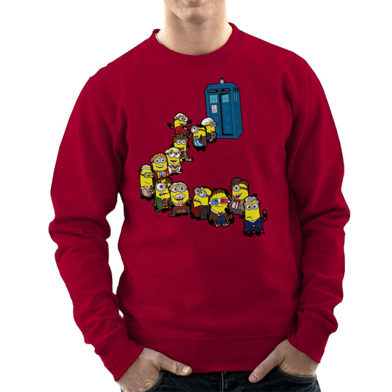 Doctor Who Minions Trouble in Time and Space Tardis Men's Sweatshirt Men's Sweatshirt Cloud City 7 - 15