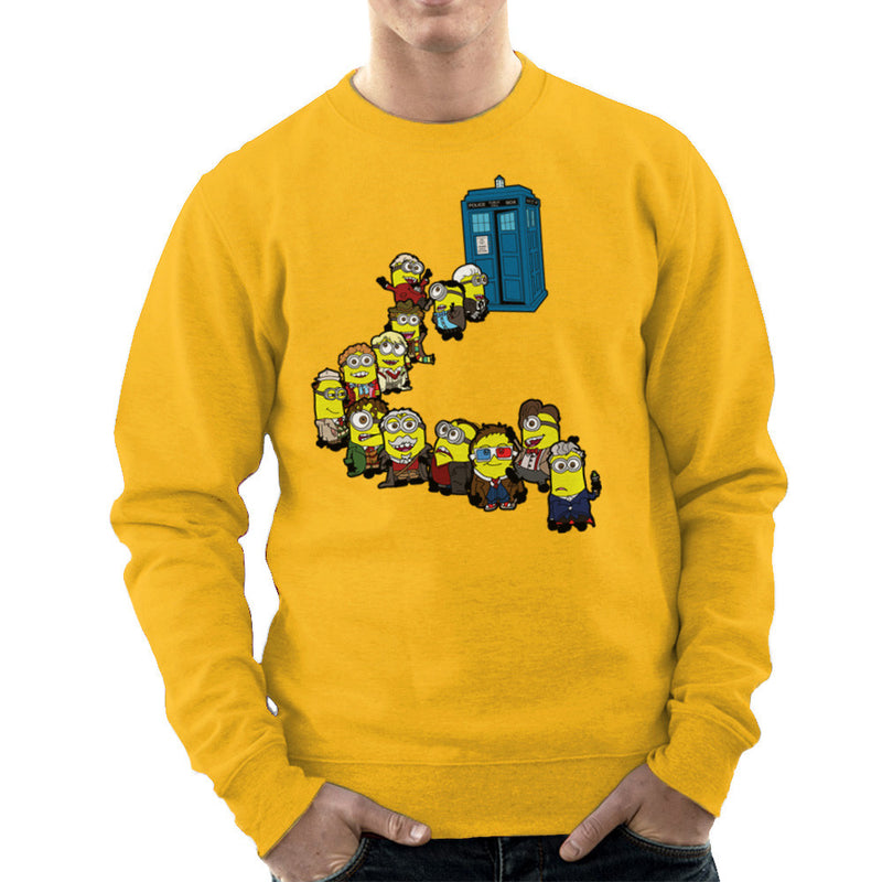 Doctor Who Minions Trouble in Time and Space Tardis Men's Sweatshirt Men's Sweatshirt Cloud City 7 - 18