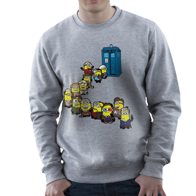 Doctor Who Minions Trouble in Time and Space Tardis Men's Sweatshirt Men's Sweatshirt Cloud City 7 - 5