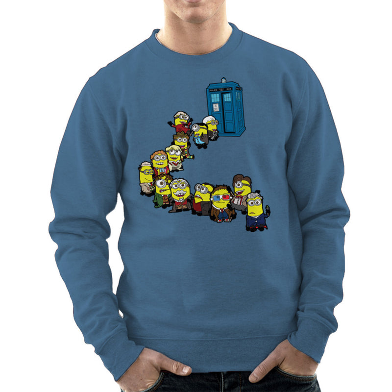 Doctor Who Minions Trouble in Time and Space Tardis Men's Sweatshirt Men's Sweatshirt Cloud City 7 - 9