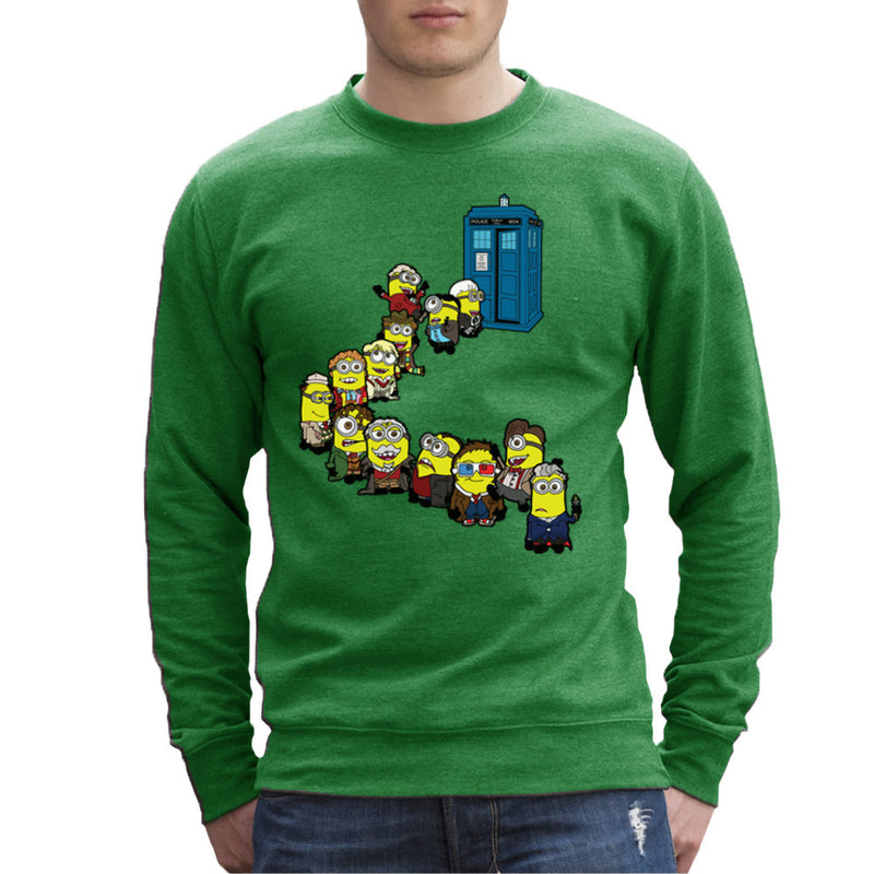 Doctor Who Minions Trouble in Time and Space Tardis Men's Sweatshirt Men's Sweatshirt Cloud City 7 - 14