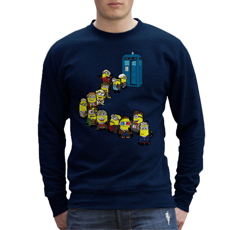 Doctor Who Minions Trouble in Time and Space Tardis Men's Sweatshirt Men's Sweatshirt Cloud City 7 - 7
