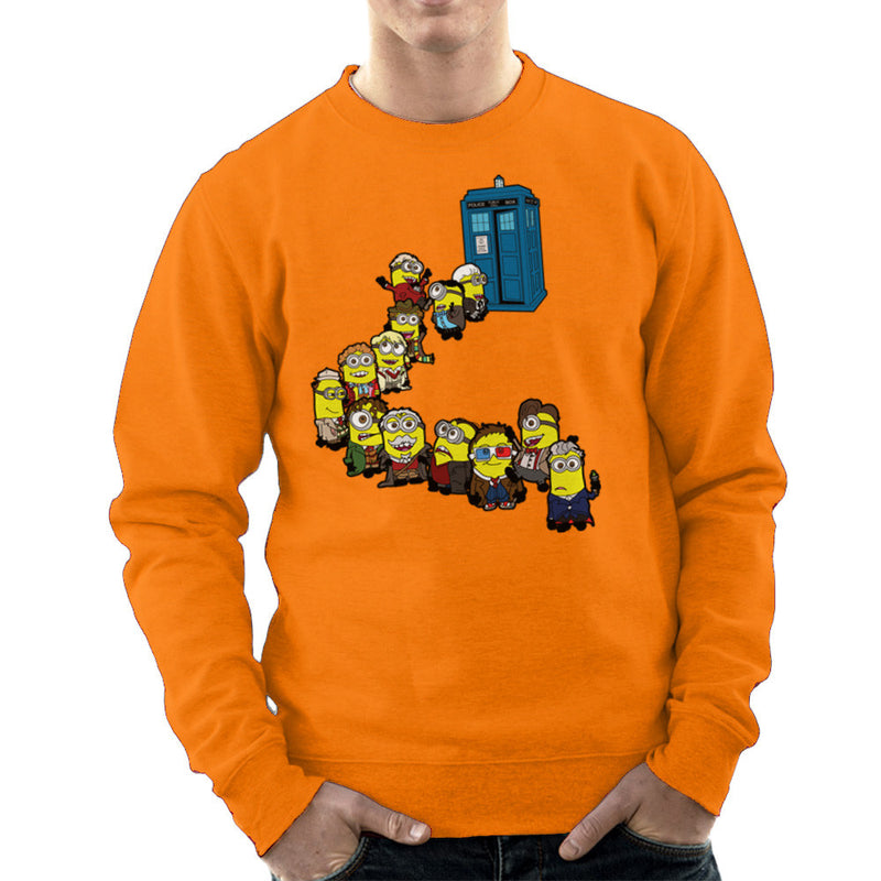 Doctor Who Minions Trouble in Time and Space Tardis Men's Sweatshirt Men's Sweatshirt Cloud City 7 - 17