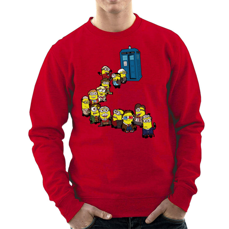Doctor Who Minions Trouble in Time and Space Tardis Men's Sweatshirt Men's Sweatshirt Cloud City 7 - 16