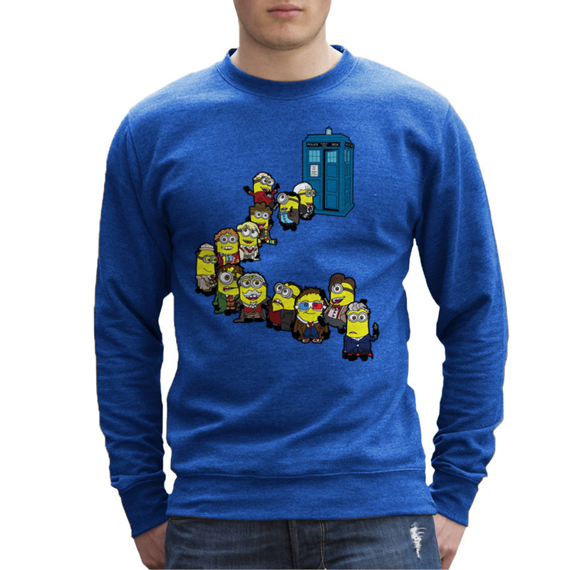Doctor Who Minions Trouble in Time and Space Tardis Men's Sweatshirt Men's Sweatshirt Cloud City 7 - 8