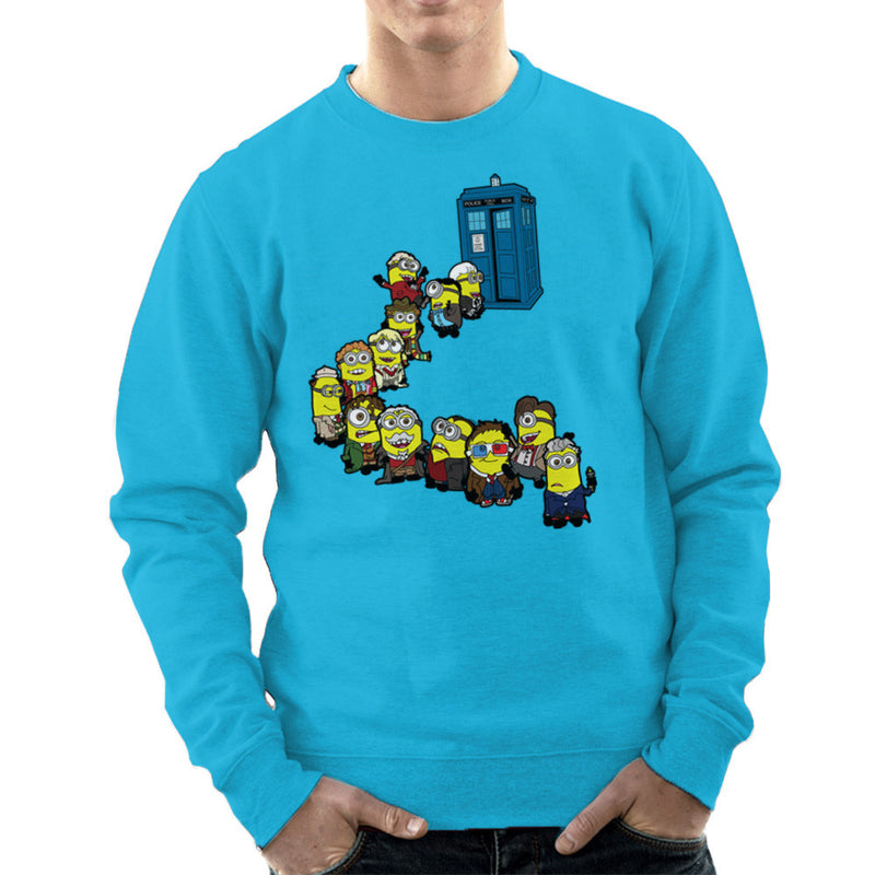 Doctor Who Minions Trouble in Time and Space Tardis Men's Sweatshirt Men's Sweatshirt Cloud City 7 - 10