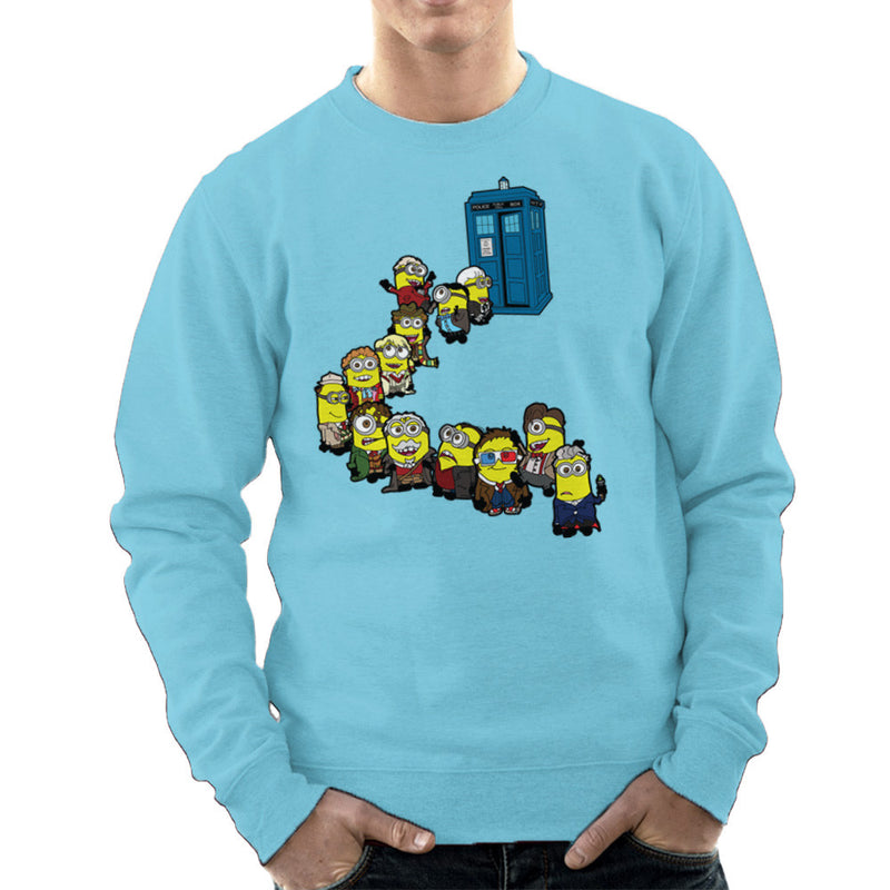Doctor Who Minions Trouble in Time and Space Tardis Men's Sweatshirt Men's Sweatshirt Cloud City 7 - 11