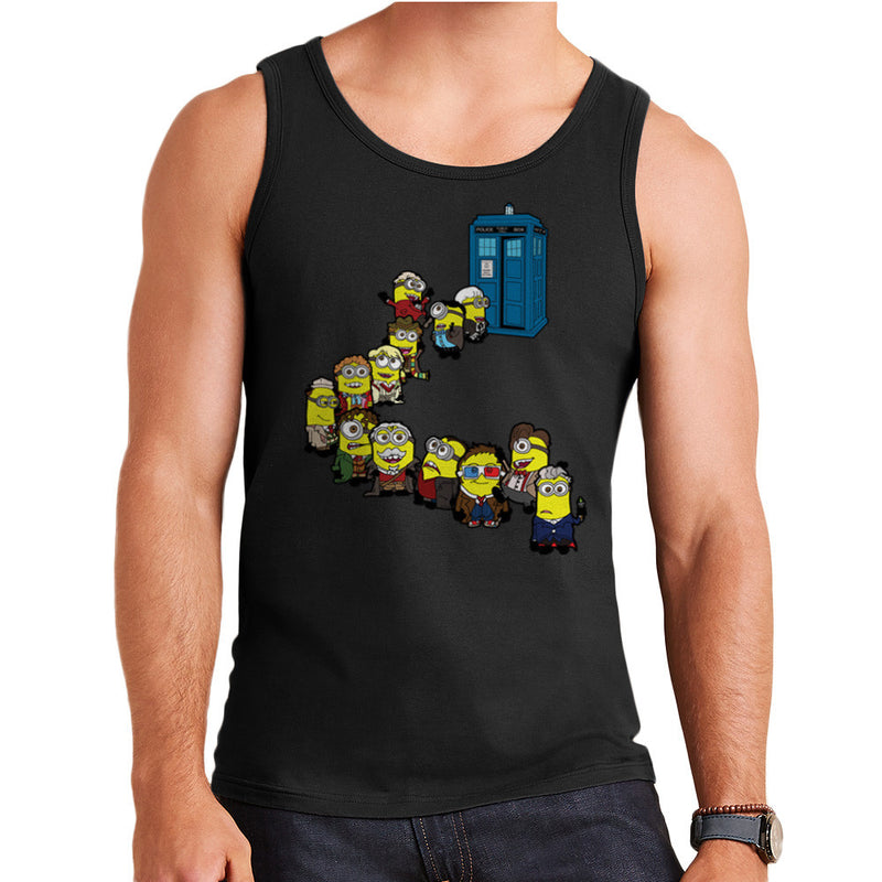 Doctor Who Minions Trouble in Time and Space Tardis Men's Vest by TopNotchy - Cloud City 7
