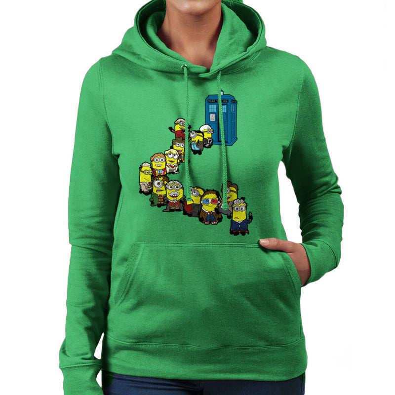 Doctor Who Minions Trouble in Time and Space Tardis Women's Hooded Sweatshirt by TopNotchy - Cloud City 7