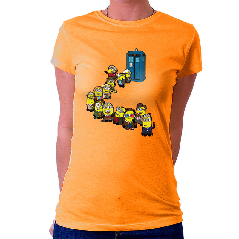 Doctor Who Minions Trouble in Time and Space Tardis Women's T-Shirt by TopNotchy - Cloud City 7