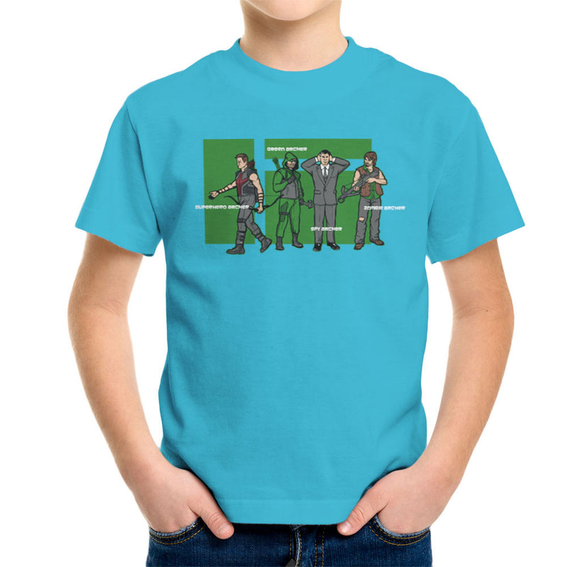 Archer Confusion Superhero Green Spy Zombie Kid's T-Shirt by AndreusD - Cloud City 7