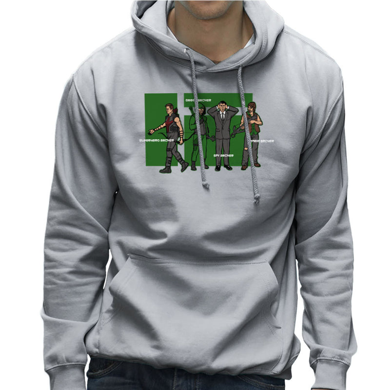 Archer Confusion Superhero Green Spy Zombie Men's Hooded Sweatshirt Men's Hooded Sweatshirt Cloud City 7 - 5