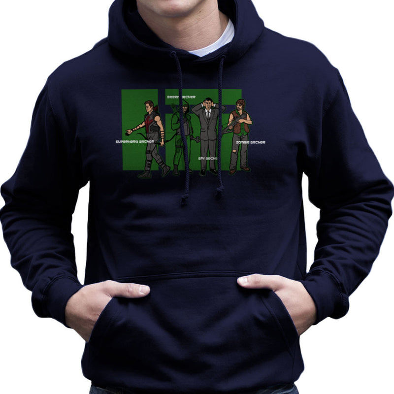Archer Confusion Superhero Green Spy Zombie Men's Hooded Sweatshirt Men's Hooded Sweatshirt Cloud City 7 - 7