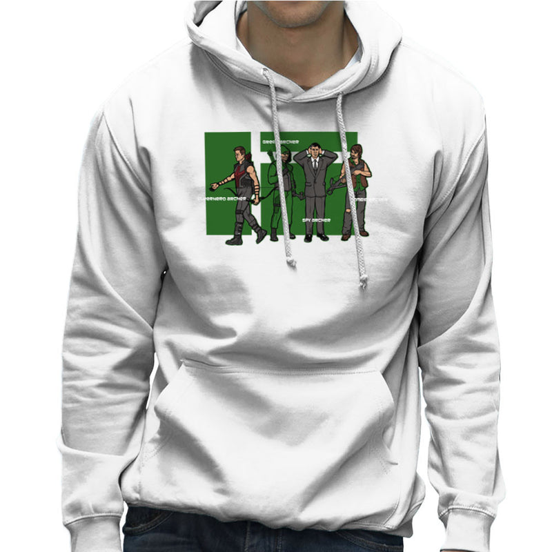 Archer Confusion Superhero Green Spy Zombie Men's Hooded Sweatshirt Men's Hooded Sweatshirt Cloud City 7 - 6