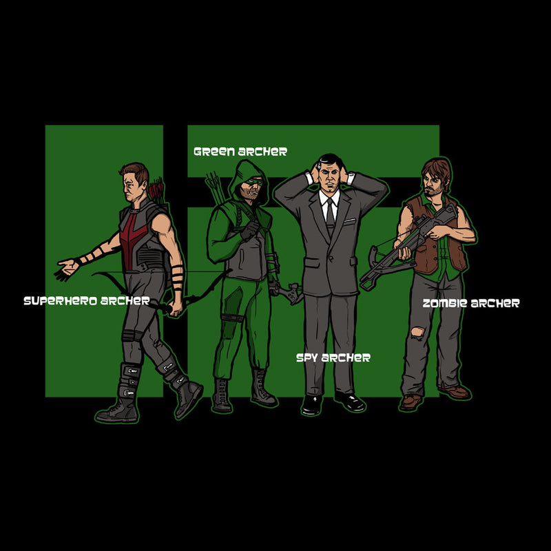 Archer Confusion Superhero Green Spy Zombie by AndreusD - Cloud City 7