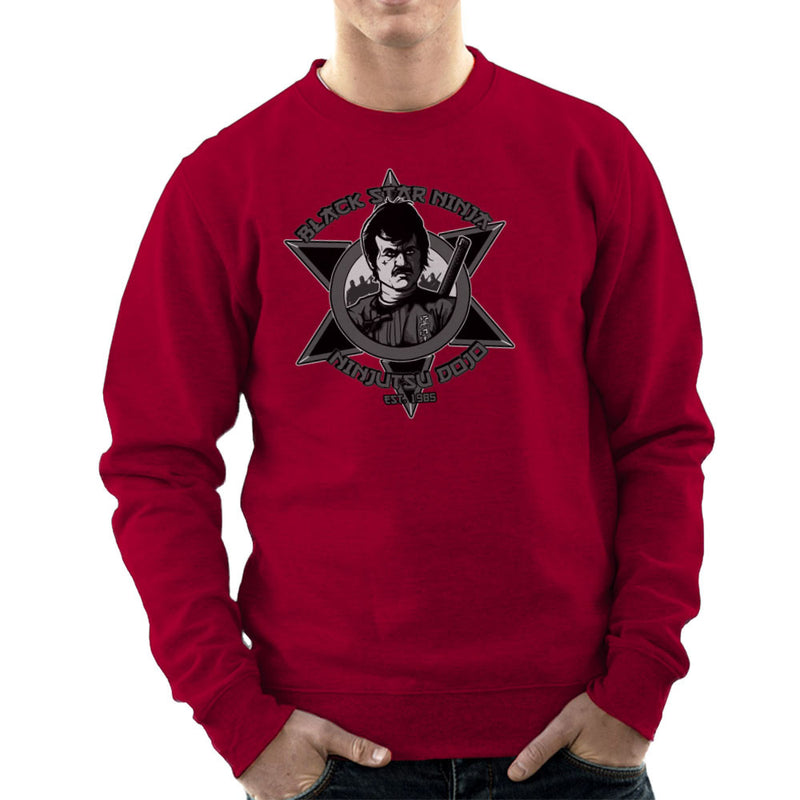 Black Star Ninja Ninjutsu Dojo American Ninja Men's Sweatshirt Men's Sweatshirt Cloud City 7 - 15