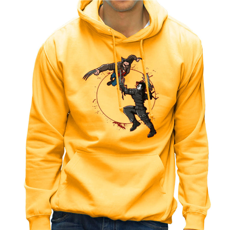 Blood Equinox Wolverine Vs Edward Scissorhands Men's Hooded Sweatshirt by AndreusD - Cloud City 7