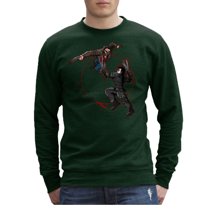 Blood Equinox Wolverine Vs Edward Scissorhands Men's Sweatshirt by AndreusD - Cloud City 7