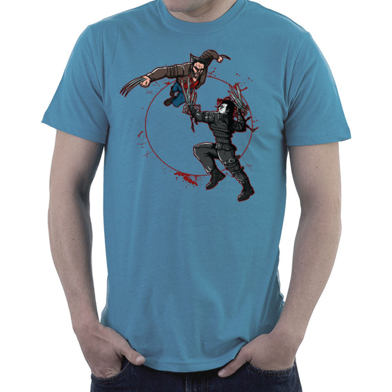 Blood Equinox Wolverine Vs Edward Scissorhands Men's T-Shirt by AndreusD - Cloud City 7