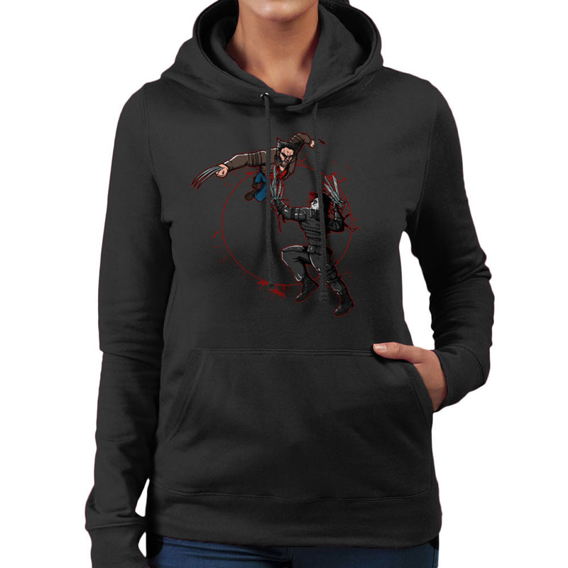 Blood Equinox Wolverine Vs Edward Scissorhands Women's Hooded Sweatshirt by AndreusD - Cloud City 7