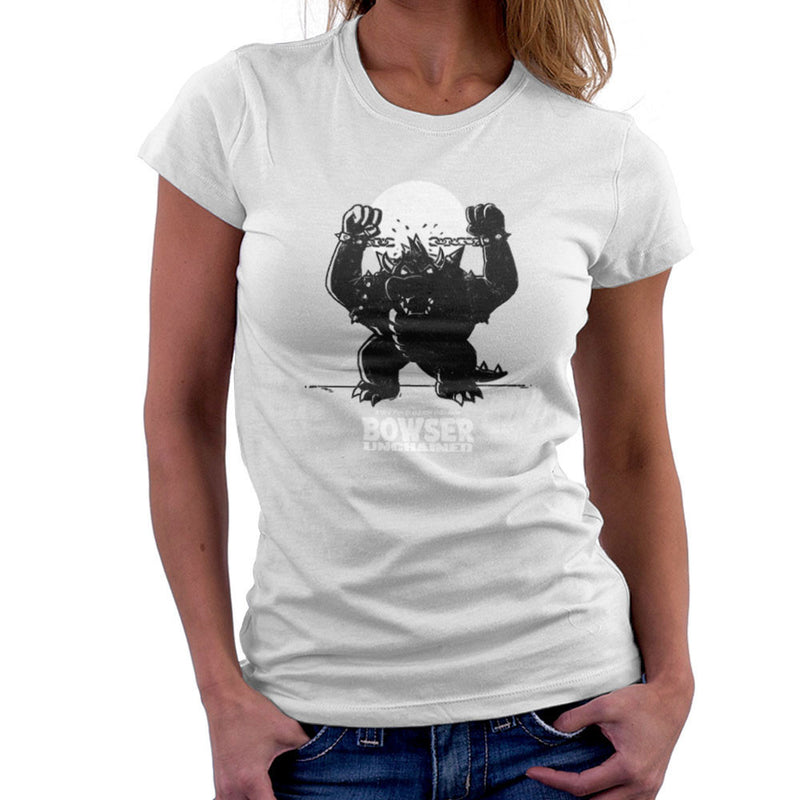 Bowser Unchained Super Mario Bros Women's T-Shirt by AndreusD - Cloud City 7