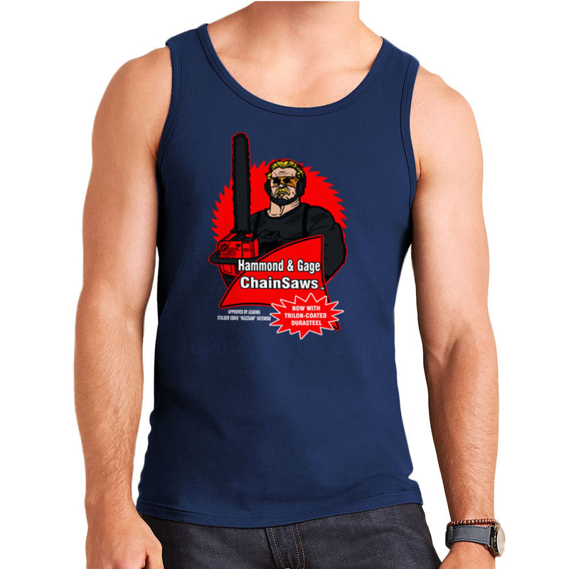 Hammond and Gage Chainsaws Buzzsaw Running Man Men's Vest by AndreusD - Cloud City 7