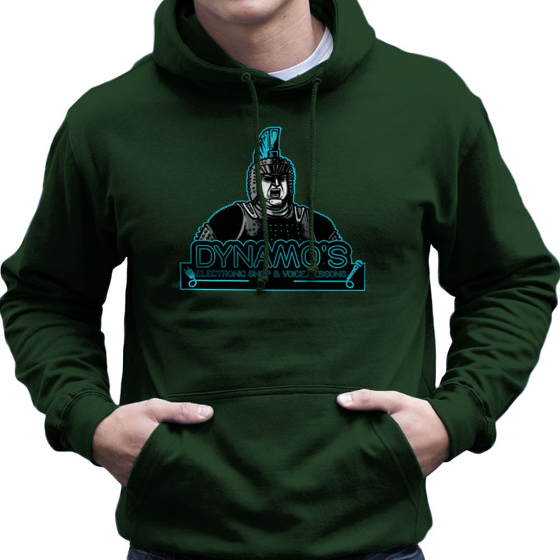 Dynamos Electronic Shop and Voice Lessons Running Man Men's Hooded Sweatshirt Men's Hooded Sweatshirt Cloud City 7 - 13