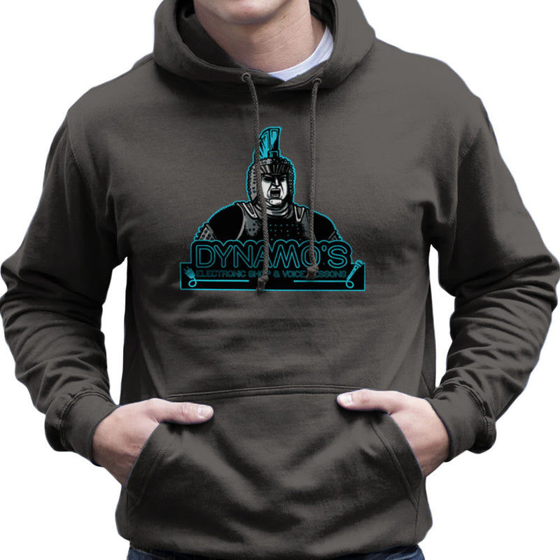 Dynamos Electronic Shop and Voice Lessons Running Man Men's Hooded Sweatshirt by AndreusD - Cloud City 7