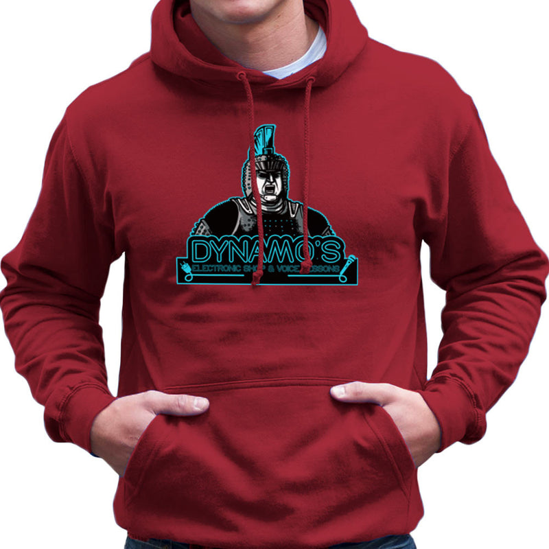 Dynamos Electronic Shop and Voice Lessons Running Man Men's Hooded Sweatshirt Men's Hooded Sweatshirt Cloud City 7 - 15