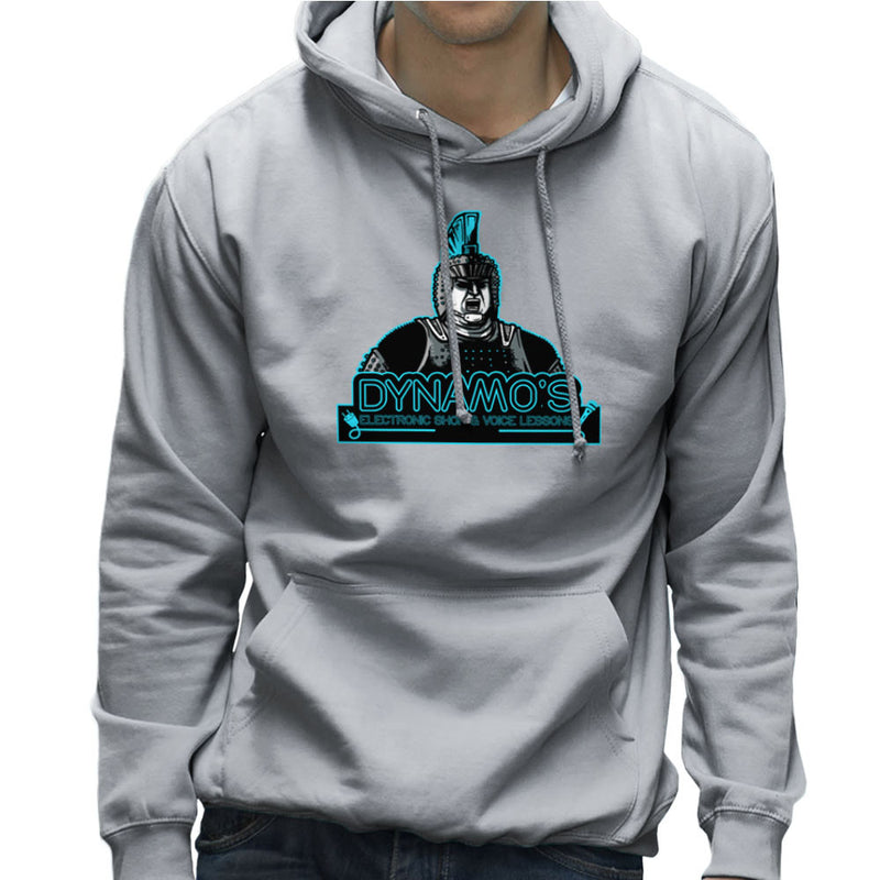 Dynamos Electronic Shop and Voice Lessons Running Man Men's Hooded Sweatshirt Men's Hooded Sweatshirt Cloud City 7 - 5