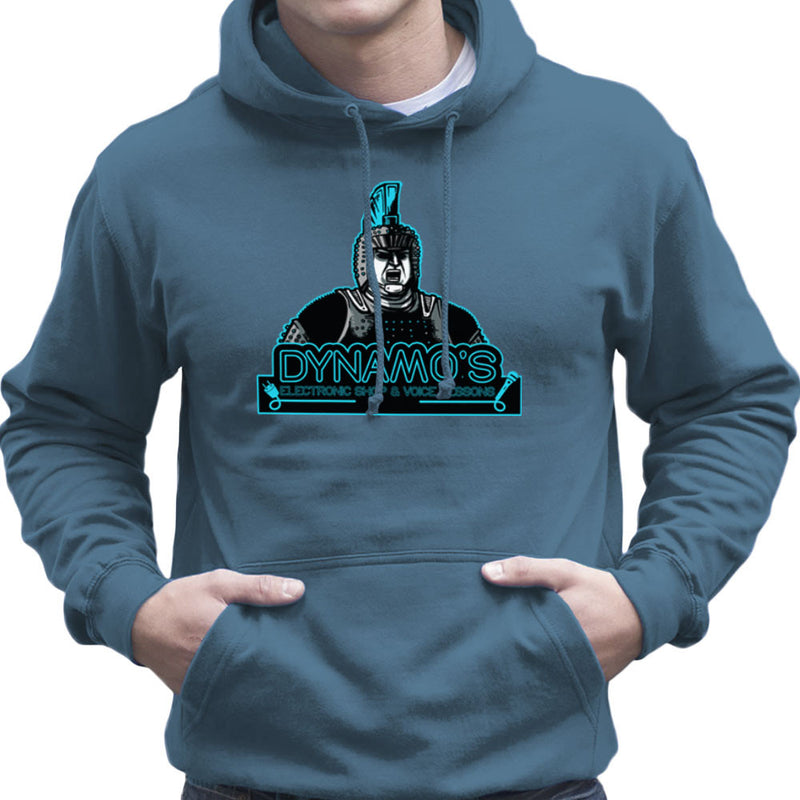 Dynamos Electronic Shop and Voice Lessons Running Man Men's Hooded Sweatshirt Men's Hooded Sweatshirt Cloud City 7 - 9