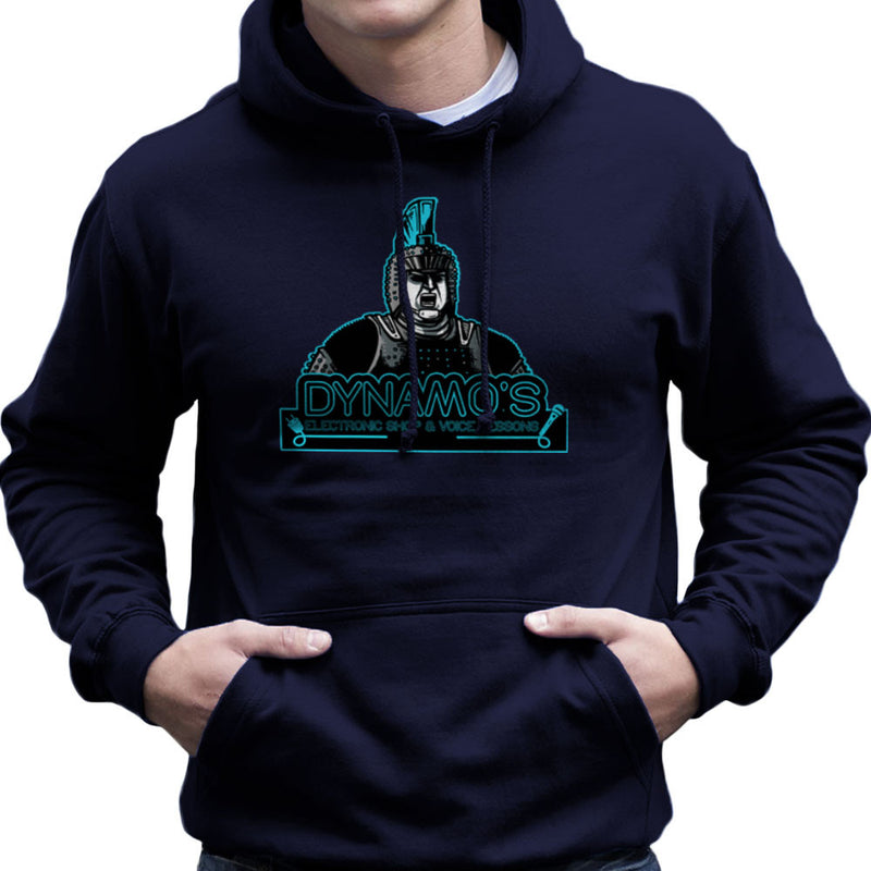 Dynamos Electronic Shop and Voice Lessons Running Man Men's Hooded Sweatshirt Men's Hooded Sweatshirt Cloud City 7 - 7