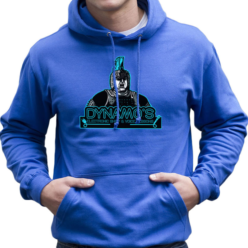 Dynamos Electronic Shop and Voice Lessons Running Man Men's Hooded Sweatshirt Men's Hooded Sweatshirt Cloud City 7 - 8