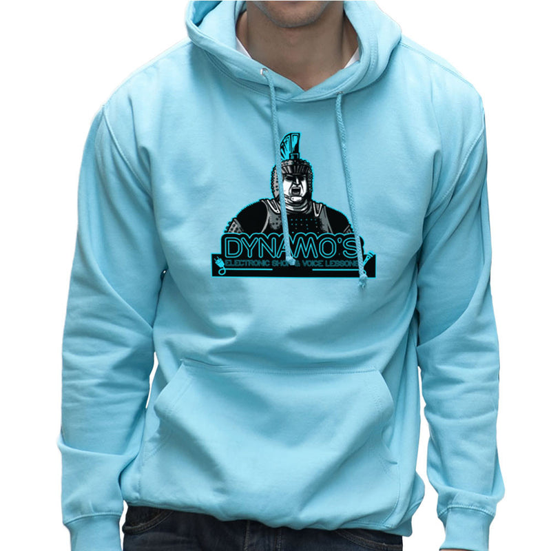 Dynamos Electronic Shop and Voice Lessons Running Man Men's Hooded Sweatshirt Men's Hooded Sweatshirt Cloud City 7 - 11