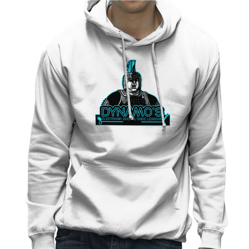 Dynamos Electronic Shop and Voice Lessons Running Man Men's Hooded Sweatshirt Men's Hooded Sweatshirt Cloud City 7 - 6