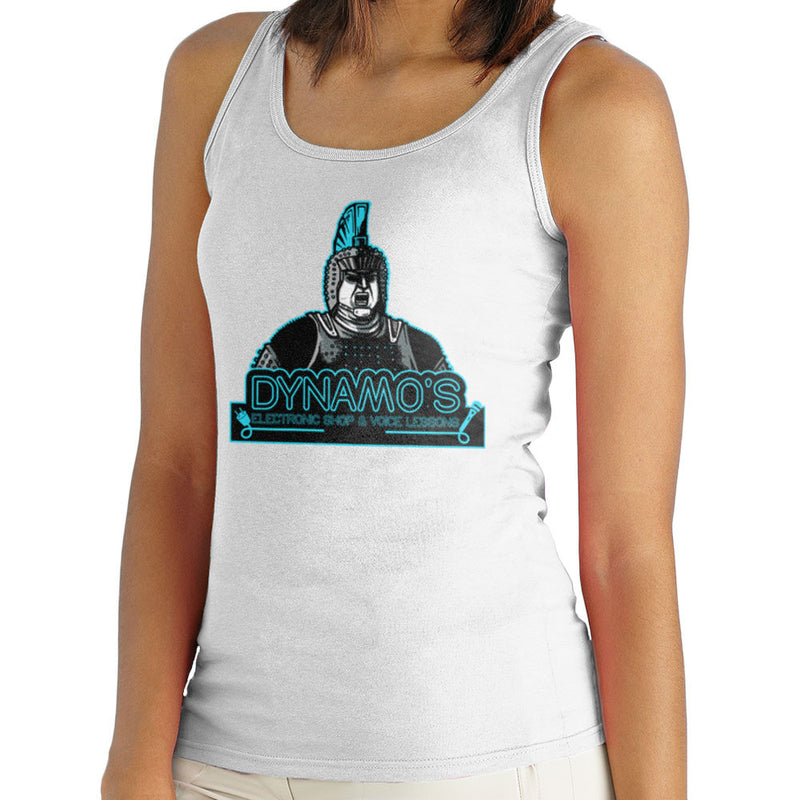 Dynamos Electronic Shop and Voice Lessons Running Man Women's Vest by AndreusD - Cloud City 7