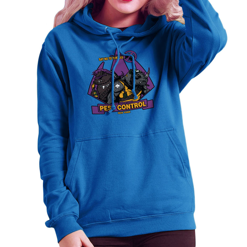 Pest Control Bebop and Rocksteady Teenage Mutant Ninja Turtles Women's Hooded Sweatshirt by AndreusD - Cloud City 7