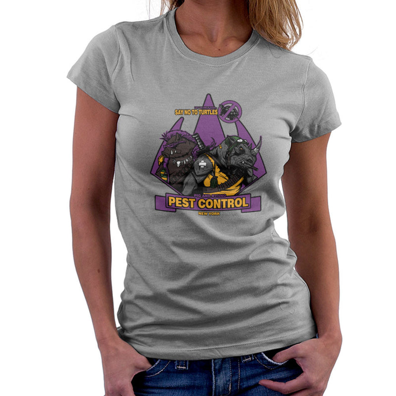 Pest Control Bebop and Rocksteady Teenage Mutant Ninja Turtles Women's T-Shirt by AndreusD - Cloud City 7