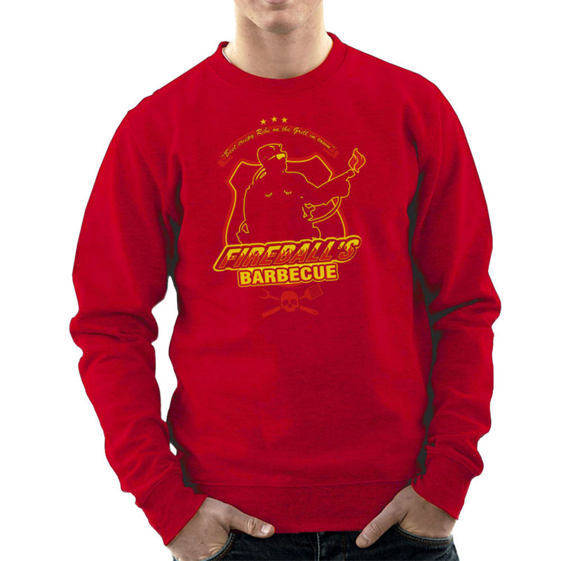 Fireballs BBQ Running Man Men's Sweatshirt by AndreusD - Cloud City 7